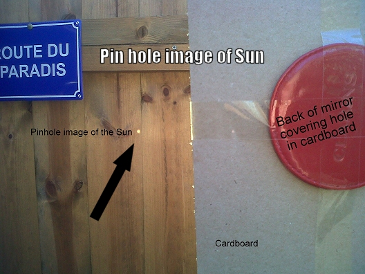 Image of Sun through a pin hole
